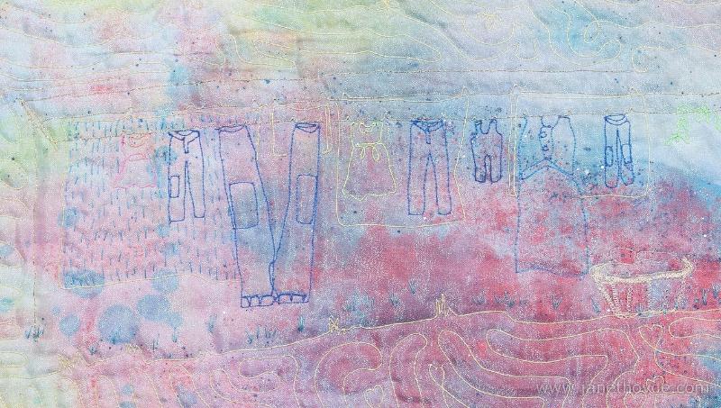 Mary, Divine Mom, clothesline detail