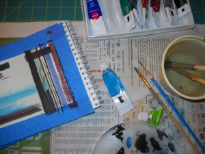 Gouache Painting Station